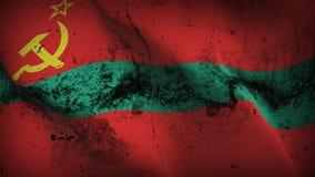 Schmutziges fahnenschwenkendes Transnistrien-Schmutzes auf Wind vektor abbildung