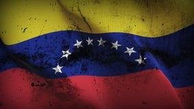 Schmutziges fahnenschwenkendes Venezuela-Schmutzes auf Wind stock abbildung