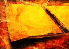 Schmutziges, grungy Notizbuch Stockbild
