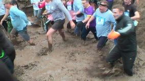 Schmutziges Langlaufrennenstadium Tyumen Russland stock footage