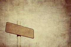 Schmutziges leeres Zeichen des Schmutzes Stockbilder