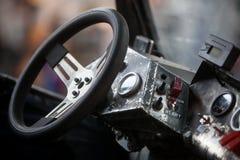 Schmutziges Lenkraddetail Lizenzfreies Stockfoto