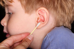Schmutziges Ohr lizenzfreie stockfotos