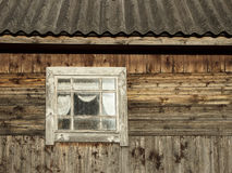 Schmutziges Windows Stockbild