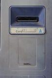 Schmutzkarten-Einsatzschlitz verlassenen ATMs Lizenzfreie Stockfotografie