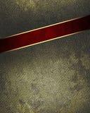 Schmutzmetall mit einem roten Schnitt Element für Entwurf Schablone für Entwurf kopieren Sie Raum für Anzeigenbroschüre oder Mitt Lizenzfreies Stockbild
