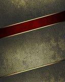 Schmutzmetall mit einem roten Schnitt Element für Entwurf Schablone für Entwurf kopieren Sie Raum für Anzeigenbroschüre oder Mitt Lizenzfreie Stockbilder