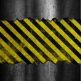 Schmutzmetall und Streifenhintergrund Stockfotografie