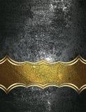 Schmutzmetallhintergrund mit einem Zeichen Element für Entwurf Schablone für Entwurf kopieren Sie Raum für Anzeigenbroschüre oder Lizenzfreie Stockfotografie