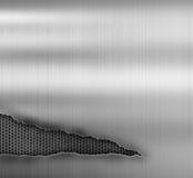 Schmutzmetallhintergrund mit zerrissen lizenzfreie stockbilder