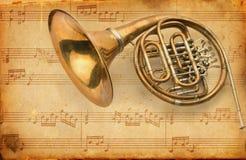 Schmutzmusicalhintergrund Stockbild