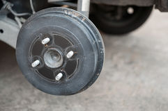 Schmutzrad ohne Reifen Stockbild