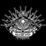 Schmutzschädelwappen Stockfoto