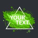 Schmutzspritzenfahne Vektor plätschern Aufkleber mit Raum für Text Grunge Kennsatz Stockbild