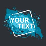 Schmutzspritzenfahne Vektor plätschern Aufkleber mit Raum für Text Grunge Kennsatz Lizenzfreies Stockbild