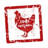 Schmutzstempel mit dem Text 100-Prozent-Huhn herein geschrieben Lizenzfreies Stockbild