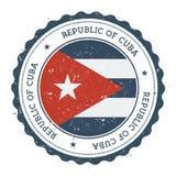 Schmutzstempel mit Kuba-Flagge Stockfoto
