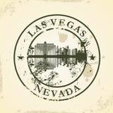Schmutzstempel mit Las Vegas, Nevada Stockfoto