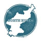 Schmutzstempel mit Namen und Karte von Korea Lizenzfreie Stockbilder