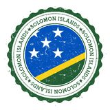 Schmutzstempel mit Solomon Islands-Flagge Stockfoto
