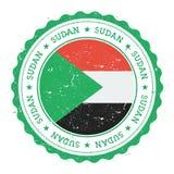 Schmutzstempel mit Sudan-Flagge Lizenzfreie Stockfotografie