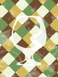 Schmutzweinlesehintergrund mit Kognak-/Weinbrandglas Lizenzfreie Stockfotografie