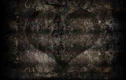 Schmutzzement-Wandbeschaffenheit für abstrakten Herzhintergrund Stockbild