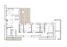 Schnürbodenplan des Einfamilien- Hauses Lizenzfreie Stockfotografie