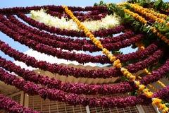 Schnüre von Blumen, Jodhpur, Schnüre von Blumen, Rajastan lizenzfreies stockfoto