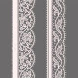 Schnüren Sie sich Farbband Nahtloses Muster set Lizenzfreie Stockbilder