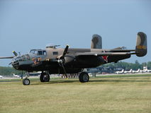 Schön wieder hergestellter nordamerikanischer B-25 Mitchell Bomber Lizenzfreie Stockbilder