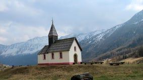 Schnalstal, церковь Kurzras Стоковое фото RF