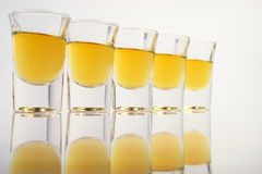 Schnapps glasses Royalty Free Stock Photo