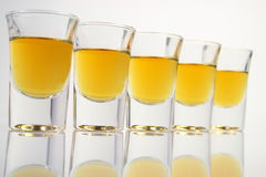 Schnapps glasses Stock Photo