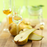 Schnapps, pears Royalty Free Stock Photo