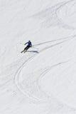 Schnappschuß eines Frauenskifahrens Lizenzfreie Stockfotografie