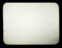 Schnappschuß eines unbelegten Bildschirms des alten Diaprojektors Lizenzfreie Stockbilder