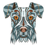 Schnauzer dog head zentangle stylized, vector, illustration, fre Stock Photography