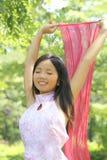 Schöne asiatische Frau Lizenzfreies Stockfoto