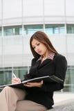 Schöne asiatische Geschäftsfrau Lizenzfreies Stockbild