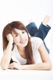 Schöne asiatische junge Frau Stockfotografie