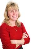 Schöne blonde Frau in Vierziger Stockfotografie