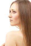 Schöne Frau mit dem langen Haar Stockbild