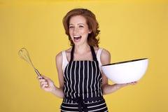 Schöne Hausfrau. Stockbild