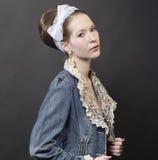 Schöne junge Frau. Art und Weisefoto Stockfoto