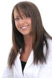 Schöne junge Frau in der weißen Klage Lizenzfreies Stockfoto