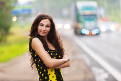 Schöne junge Frau des Portraits Stockfotografie