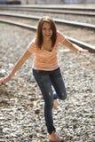 Schöne junge gesunde Frau Stockfoto