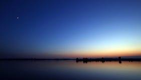 Schöne Landschaft des blauen Himmels Lizenzfreies Stockfoto