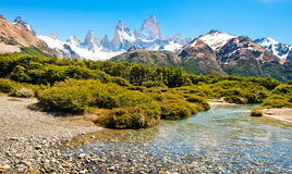 Schöne Landschaft im Patagonia, Südamerika Stockfotos